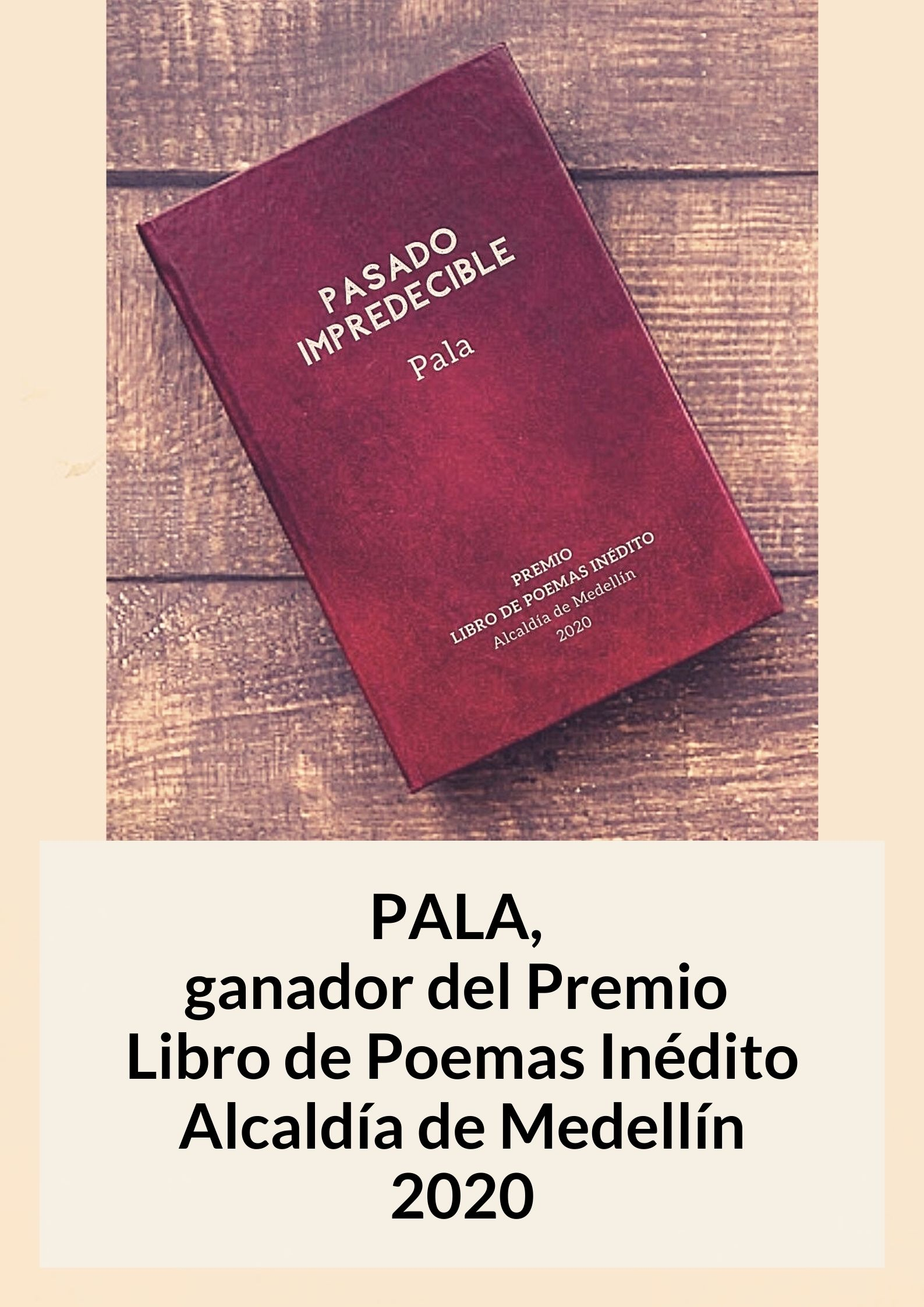Pala premio Medellin